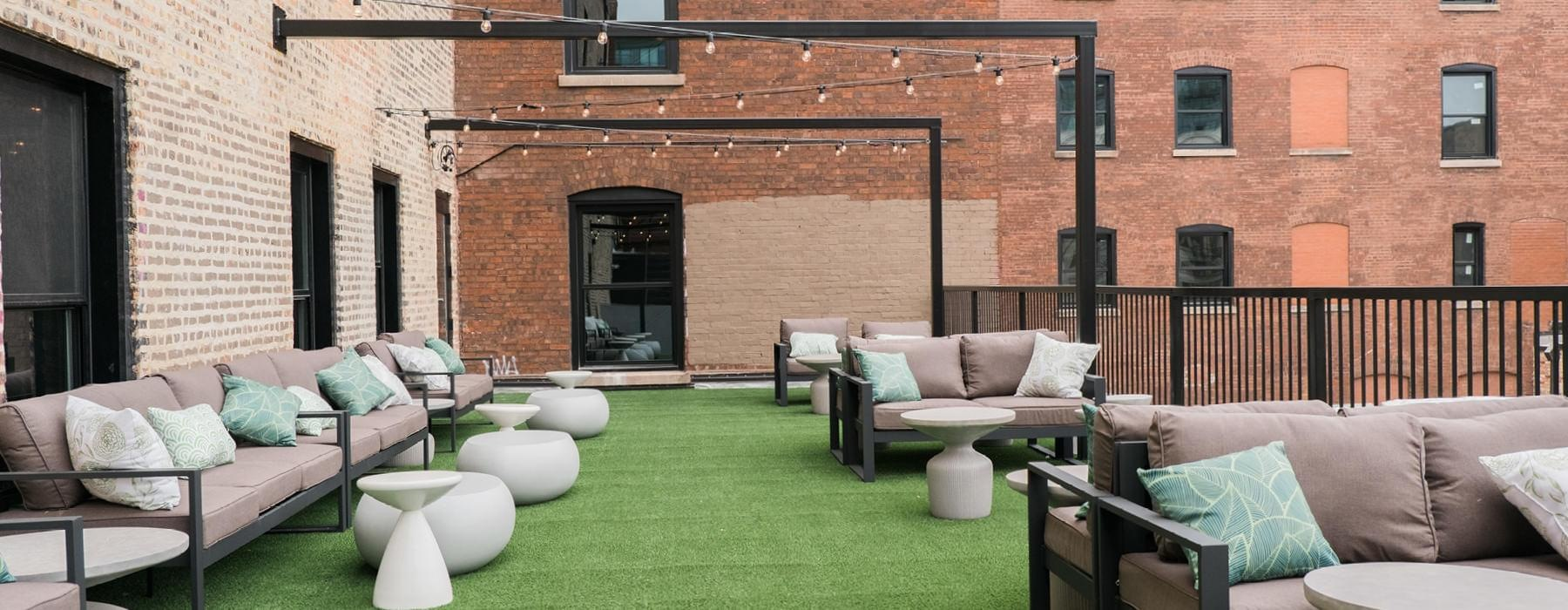 Roof Deck and Terrace with Lounge Seating